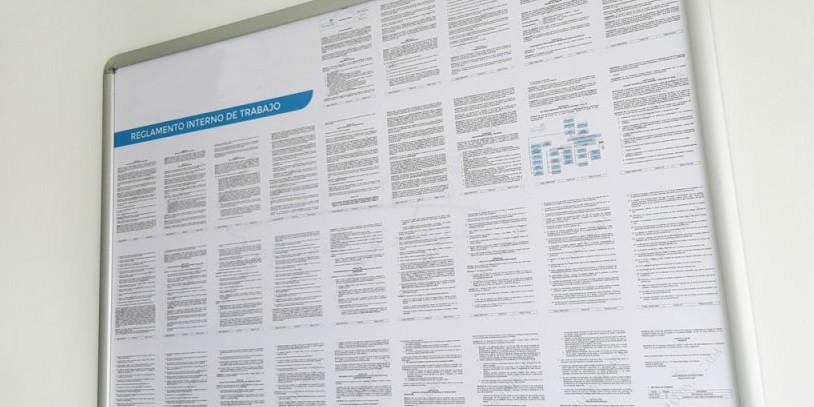 reglamento interno de trabajo se debe publicar en